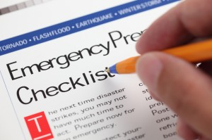 emergency check list for disaster planning