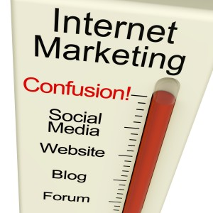 Internet Marketing Confusion Shows Online SEO Strategies And Development
